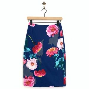 Banana Republic Floral Gerber Pencil Skirt Size 0